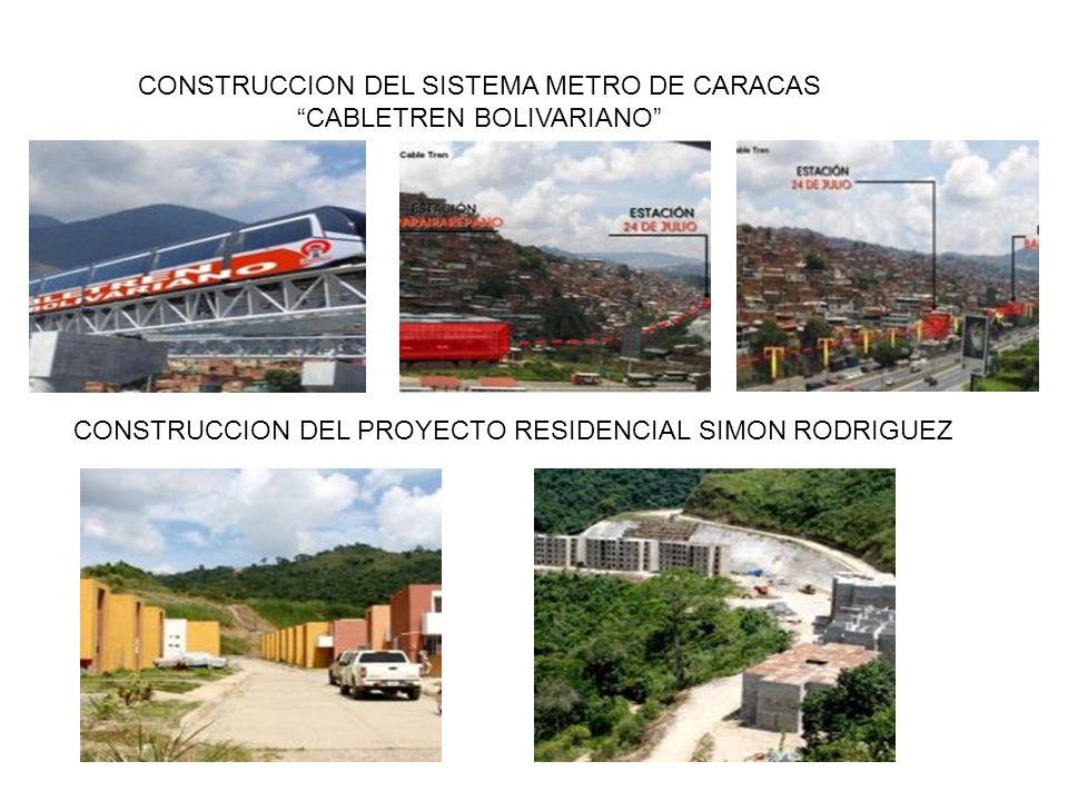 CONSTRUCCION DEL SISTEMA METRO DE CARACAS CABLETREN BOLIVARIANO