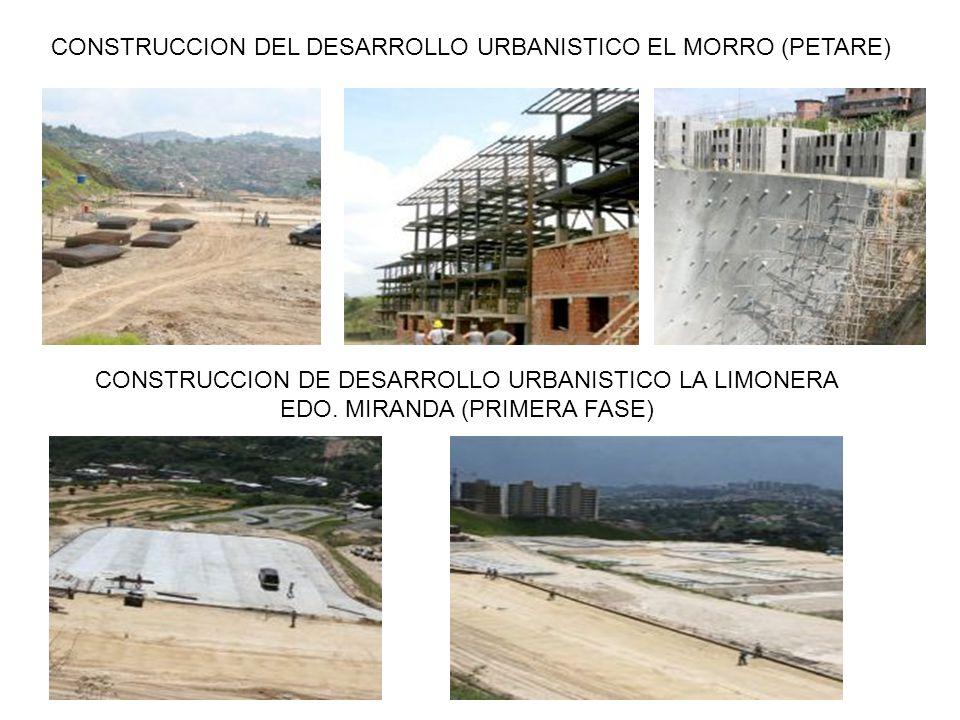 CONSTRUCCION DEL DESARROLLO URBANISTICO EL MORRO (PETARE)