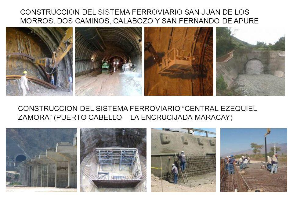 CONSTRUCCION DEL SISTEMA FERROVIARIO SAN JUAN DE LOS MORROS, DOS CAMINOS, CALABOZO Y SAN FERNANDO DE APURE