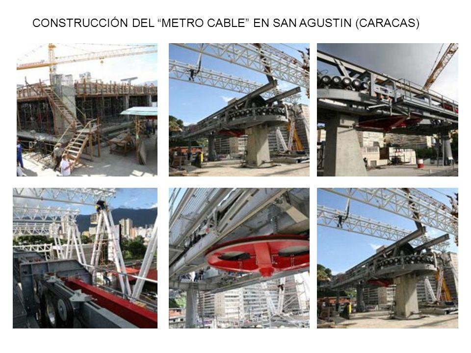 CONSTRUCCIÓN DEL METRO CABLE EN SAN AGUSTIN (CARACAS)