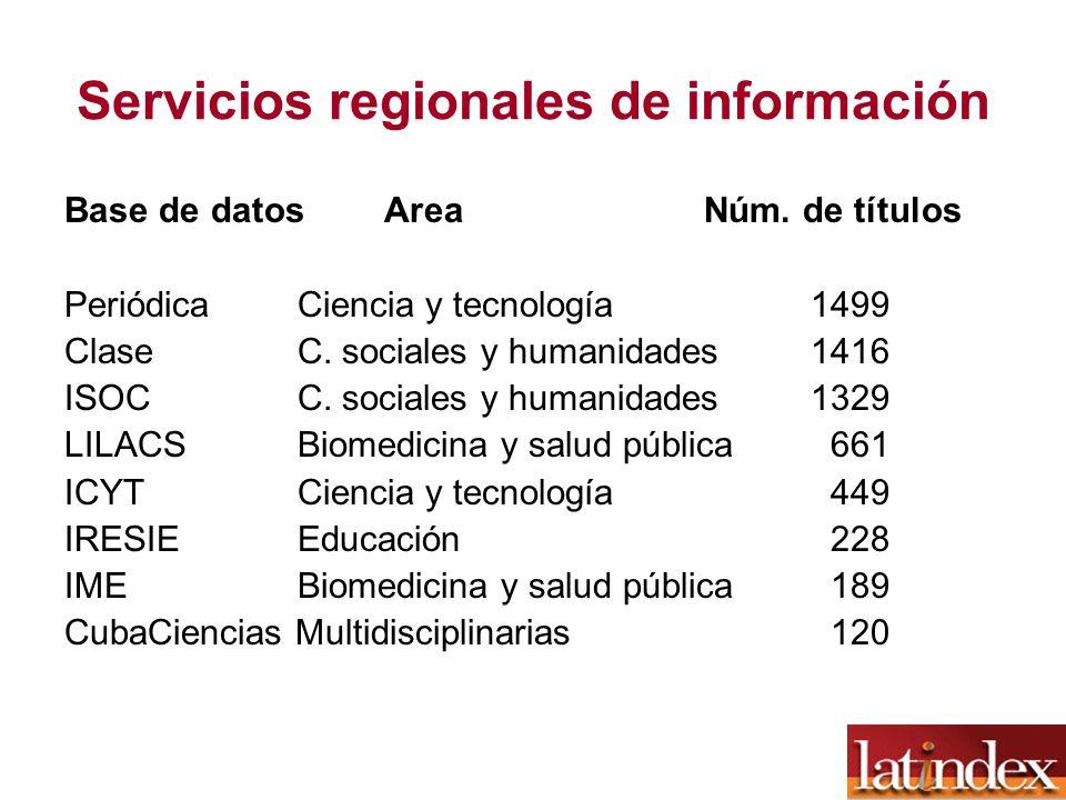 Servicios regionales de información
