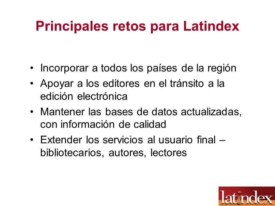 Principales retos para Latindex