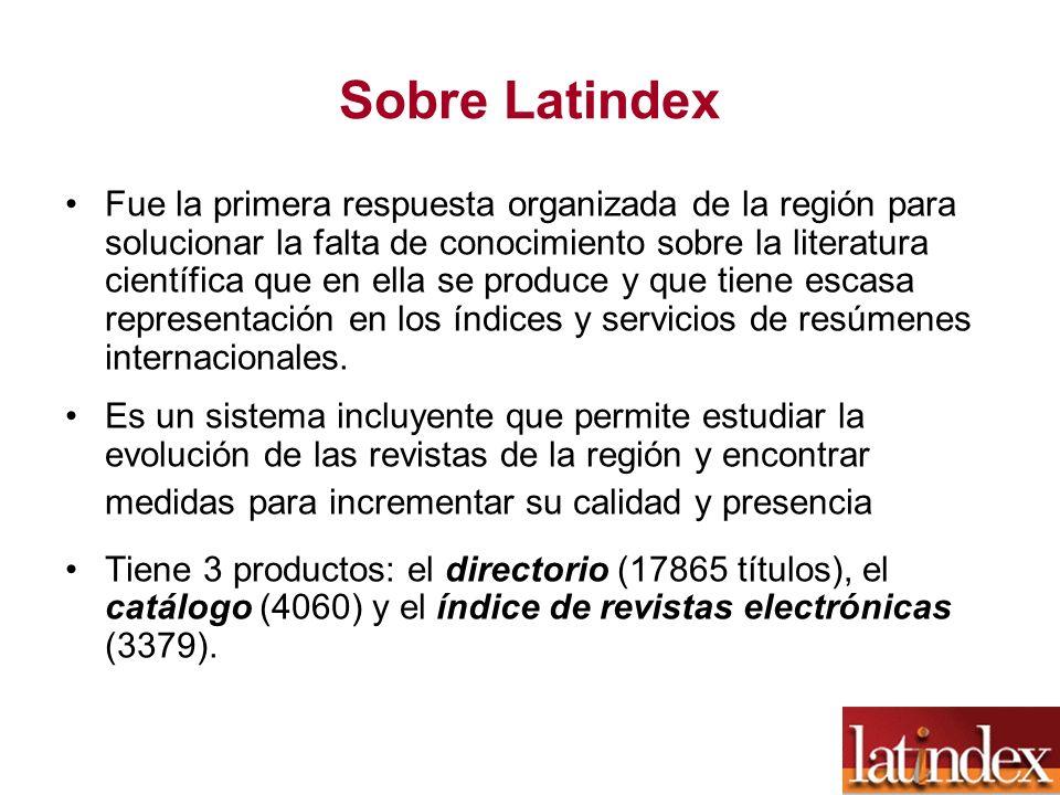 Sobre Latindex