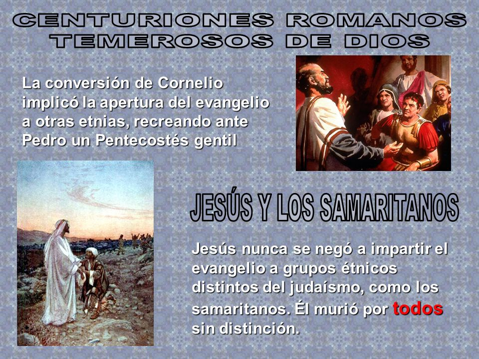 JESÚS Y LOS SAMARITANOS