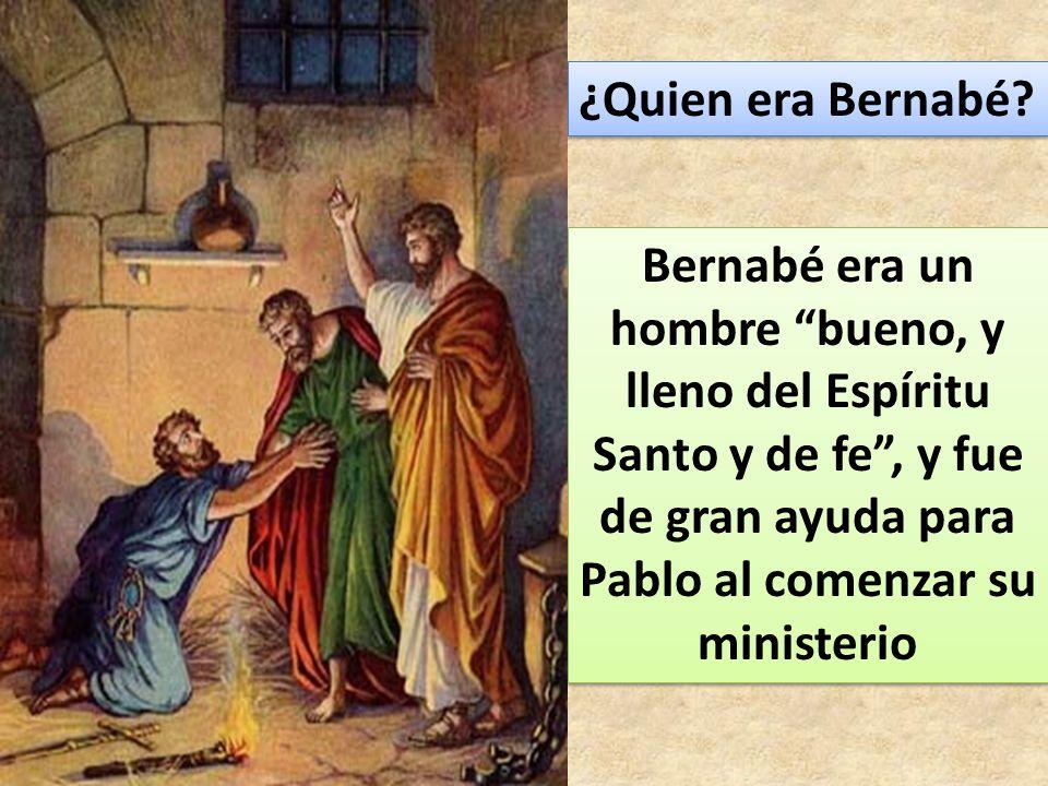 ¿Quien era Bernabé.