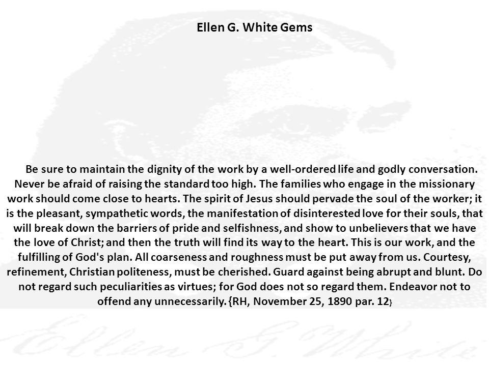 Ellen G. White Gems
