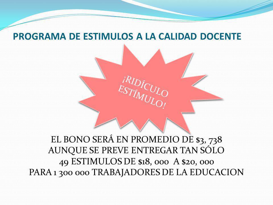 PROGRAMA DE ESTIMULOS A LA CALIDAD DOCENTE