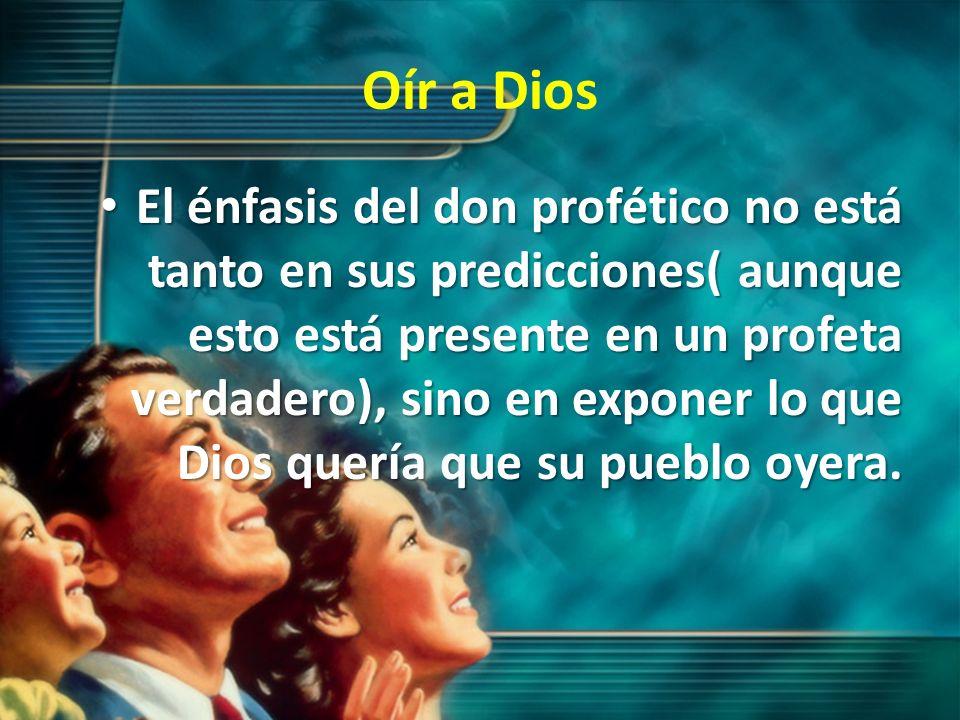 Oír a Dios