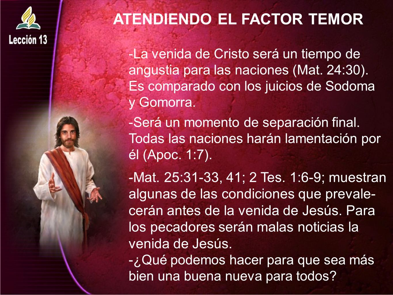 ATENDIENDO EL FACTOR TEMOR