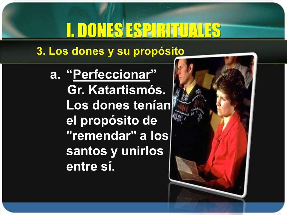 I. DONES ESPIRITUALES Perfeccionar