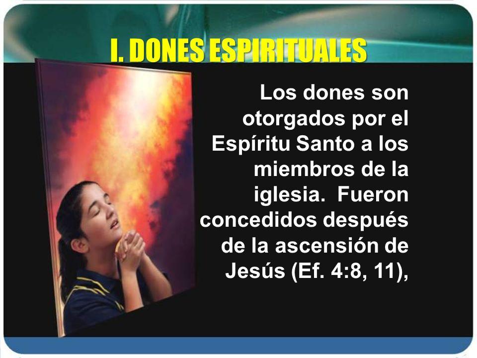 I. DONES ESPIRITUALES