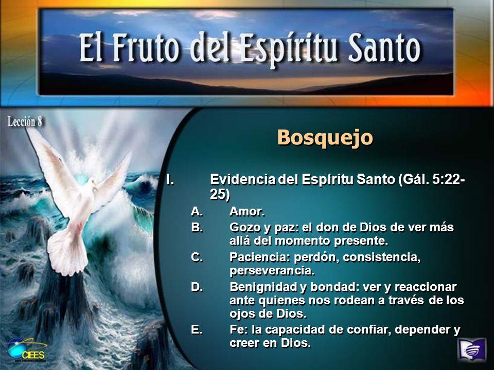 Bosquejo Evidencia del Espíritu Santo (Gál. 5:22-25) Amor.