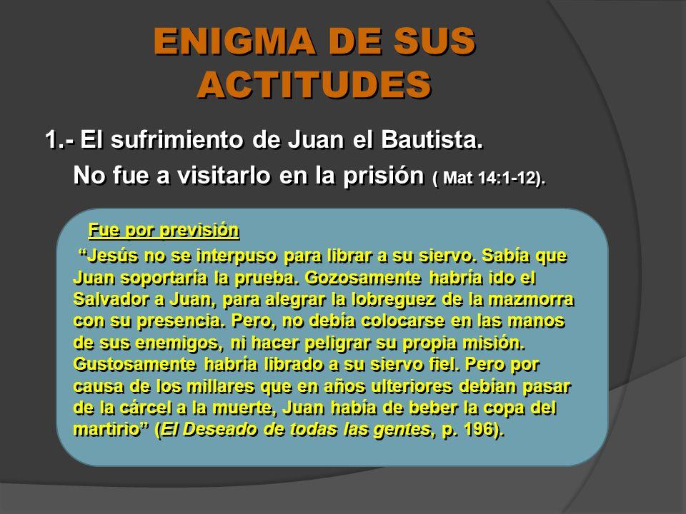 ENIGMA DE SUS ACTITUDES