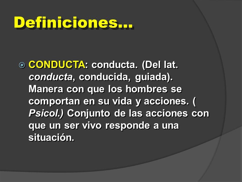 Definiciones…