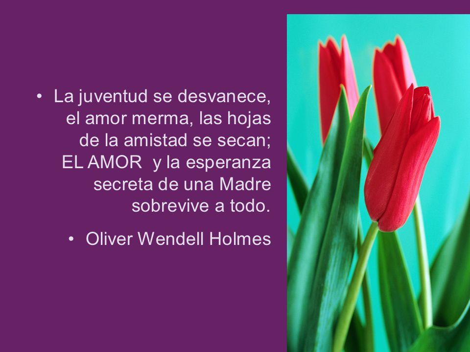 La juventud se desvanece, el amor merma, las hojas de la amistad se secan; EL AMOR y la esperanza secreta de una Madre sobrevive a todo.