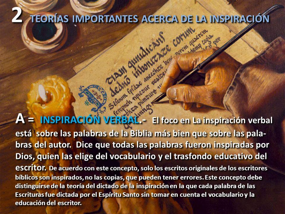 2 TEORÍAS IMPORTANTES ACERCA DE LA INSPIRACIÓN