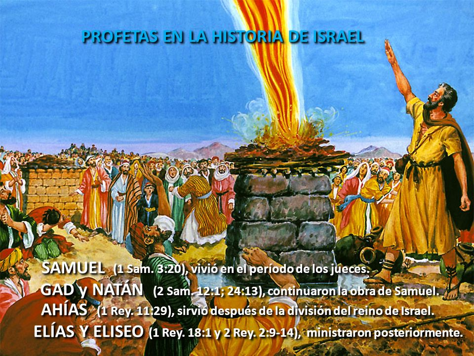 PROFETAS EN LA HISTORIA DE ISRAEL