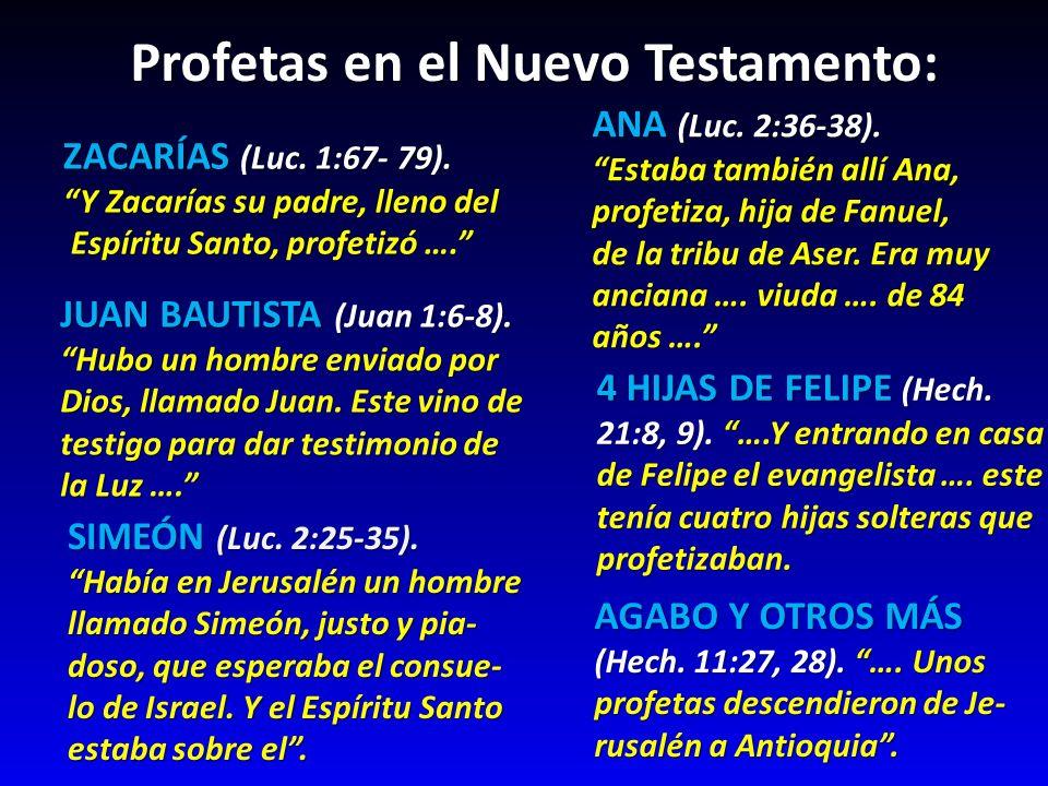 Profetas en el Nuevo Testamento: