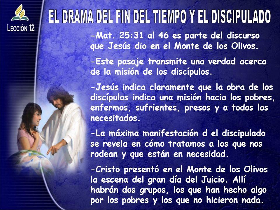 EL DRAMA DEL FIN DEL TIEMPO Y EL DISCIPULADO