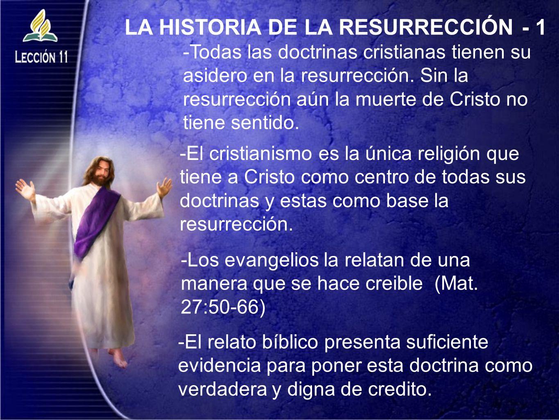 LA HISTORIA DE LA RESURRECCIÓN - 1