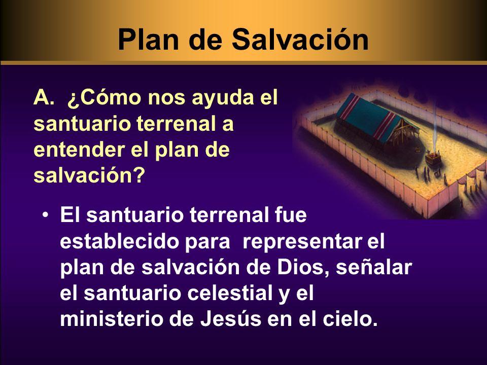 Plan de Salvación A. ¿Cómo nos ayuda el santuario terrenal a entender el plan de salvación