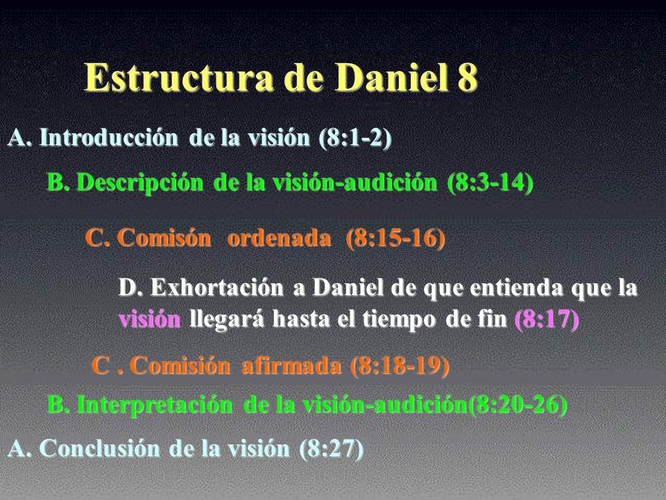 Estructura de Daniel 8 A. Introducción de la visión (8:1-2)