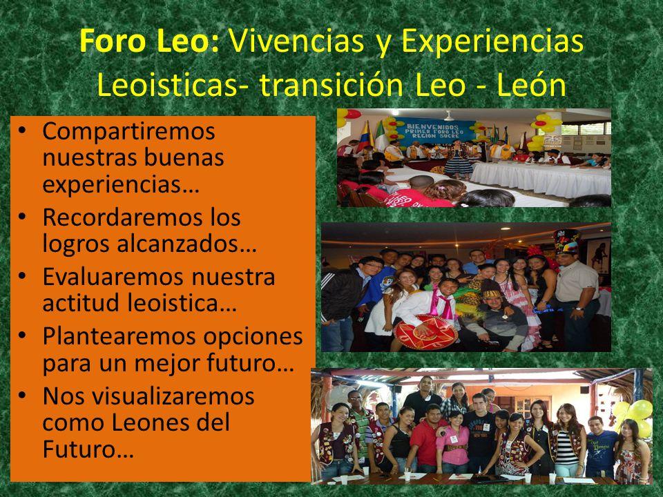 Foro Leo: Vivencias y Experiencias Leoisticas- transición Leo - León