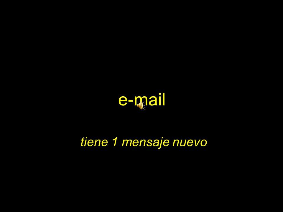 e-mail tiene 1 mensaje nuevo