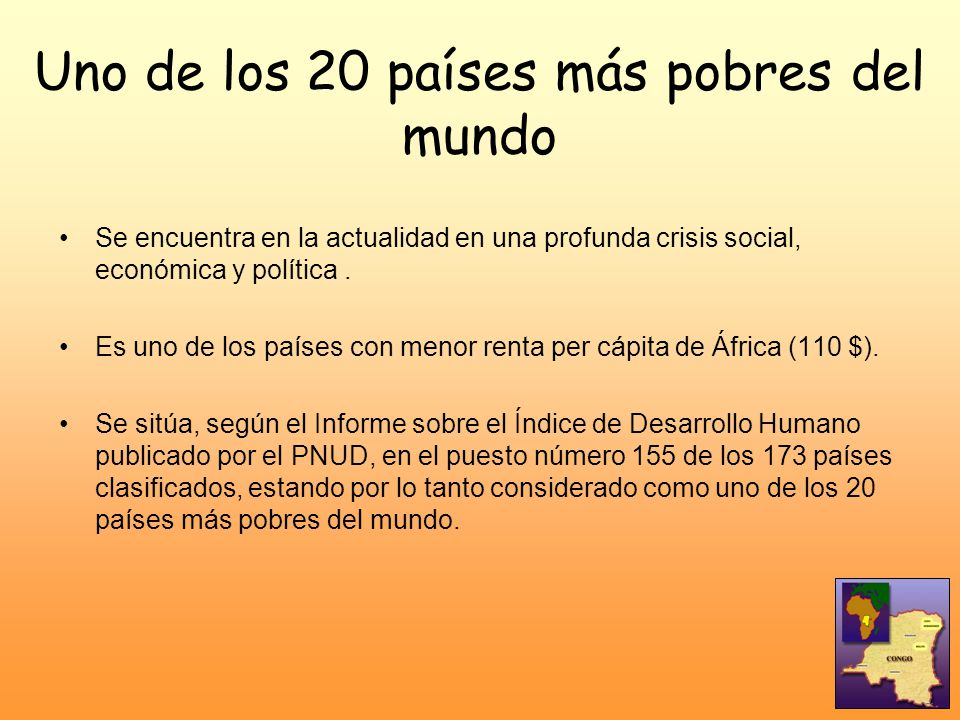 Uno de los 20 países más pobres del mundo