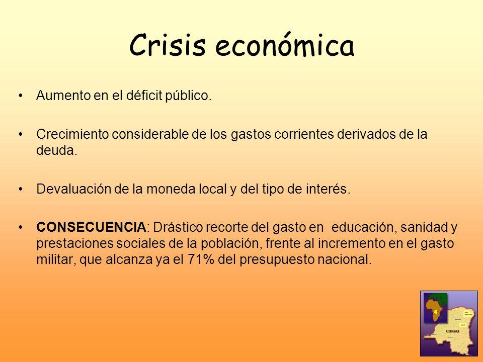 Crisis económica Aumento en el déficit público.