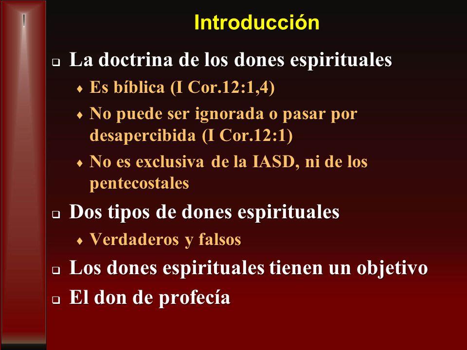 La doctrina de los dones espirituales