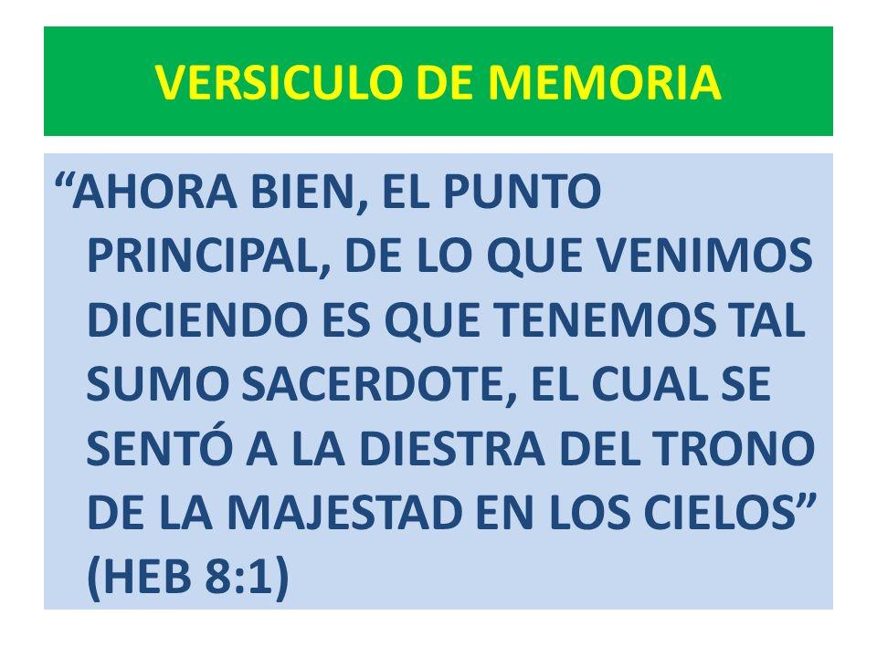 VERSICULO DE MEMORIA