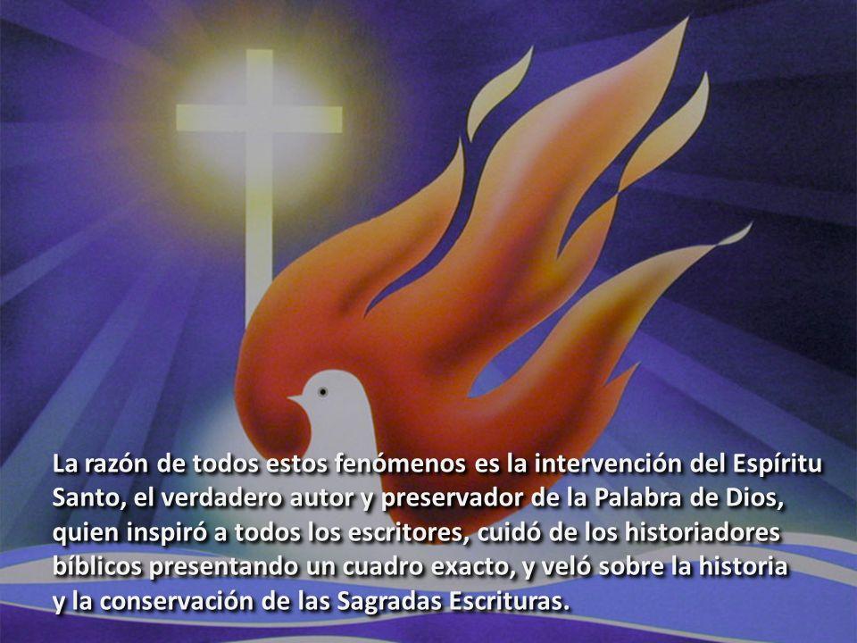 La razón de todos estos fenómenos es la intervención del Espíritu