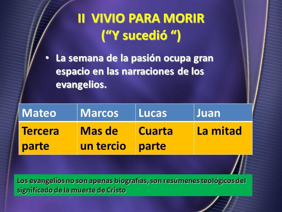 II VIVIO PARA MORIR ( Y sucedió )