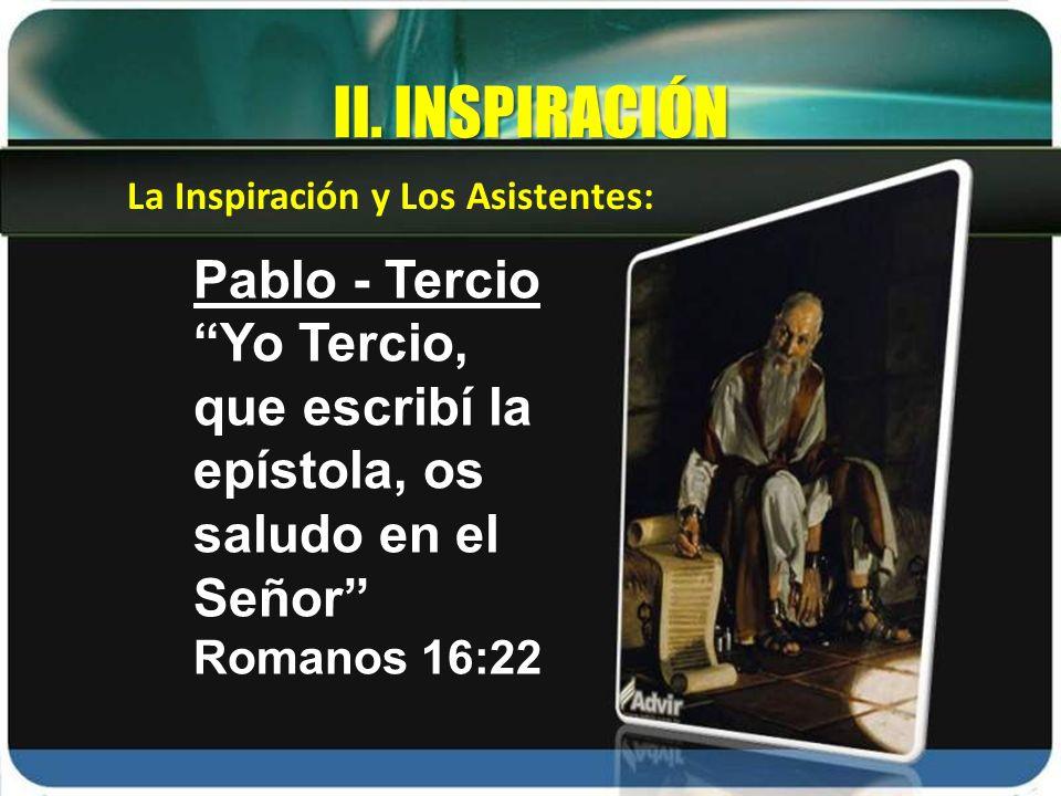 II. INSPIRACIÓN Pablo - Tercio