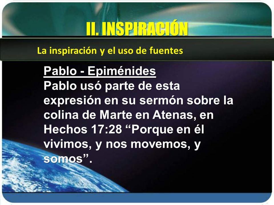 II. INSPIRACIÓN Pablo - Epiménides