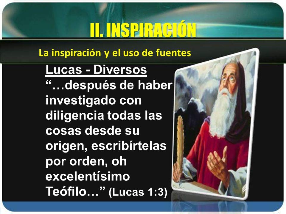 II. INSPIRACIÓN Lucas - Diversos
