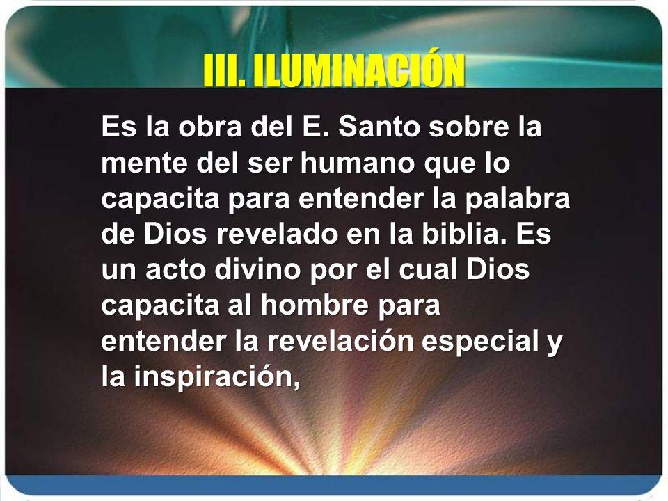 III. ILUMINACIÓN