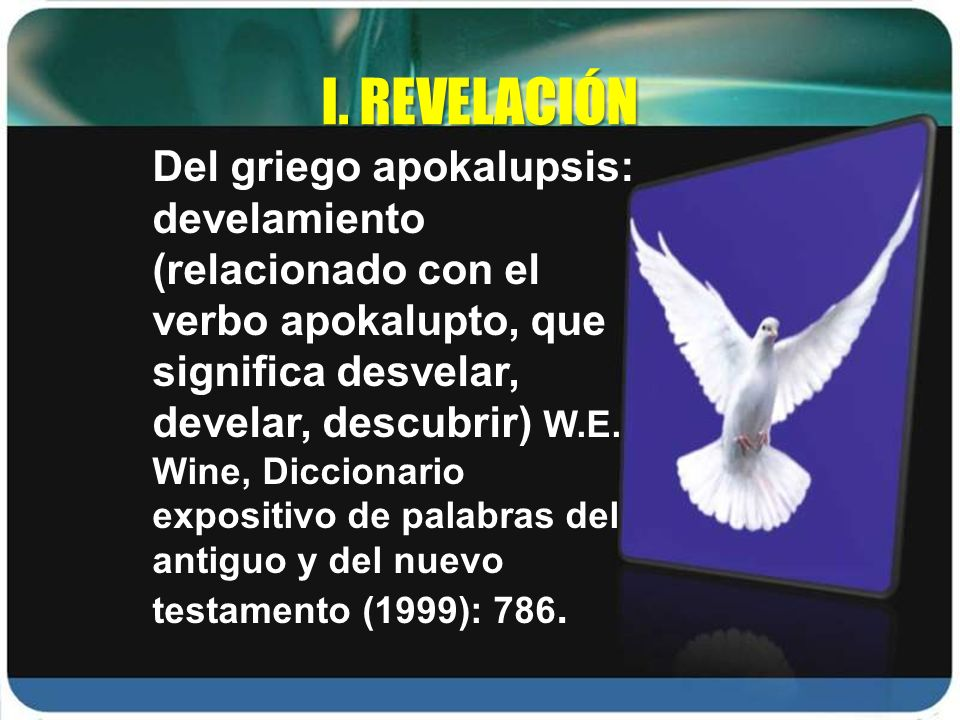 I. REVELACIÓN