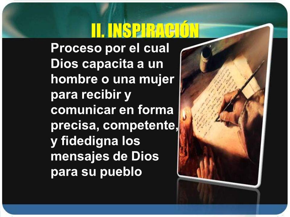II. INSPIRACIÓN