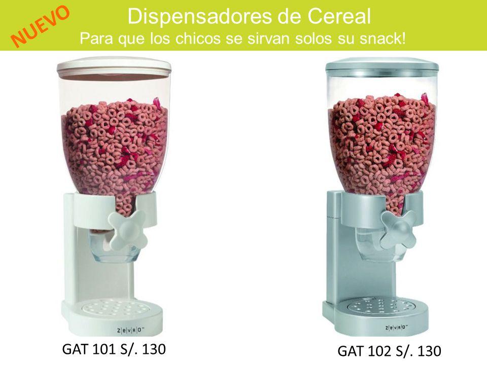 Dispensadores de Cereal Para que los chicos se sirvan solos su snack!