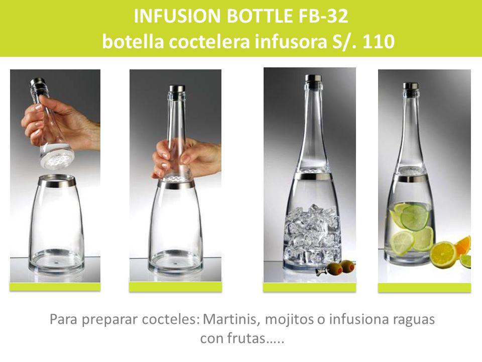 botella coctelera infusora S/. 110