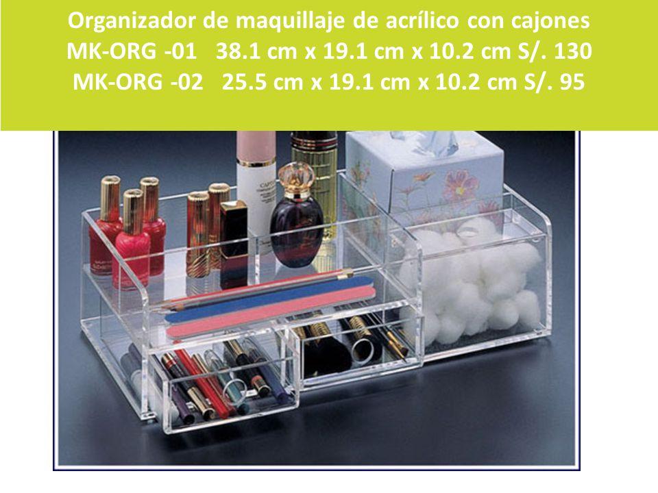 Organizador de maquillaje de acrílico con cajones