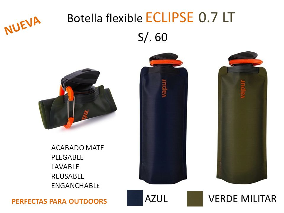 Botella flexible ECLIPSE 0.7 LT S/. 60
