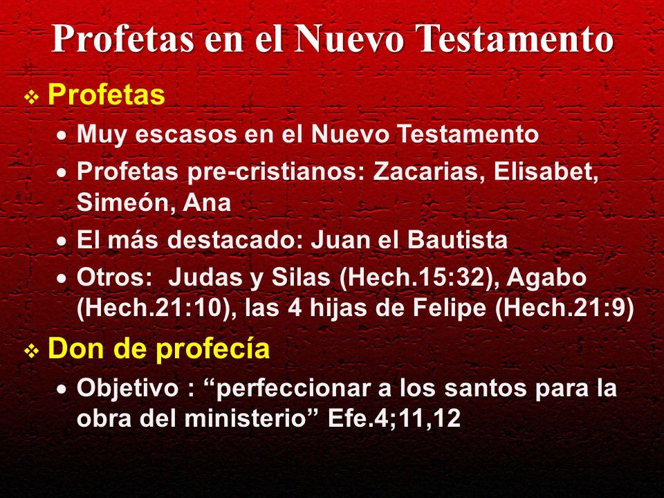 Profetas en el Nuevo Testamento