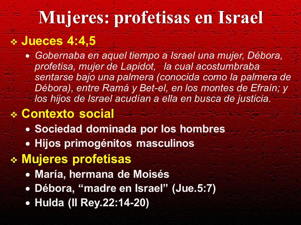 Mujeres: profetisas en Israel
