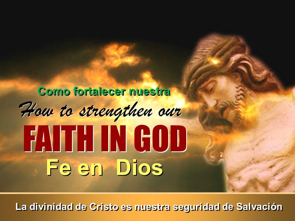 La divinidad de Cristo es nuestra seguridad de Salvación