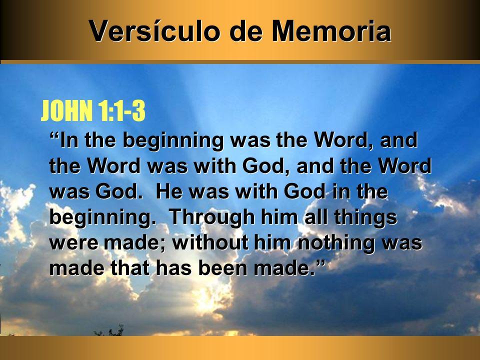 Versículo de Memoria JOHN 1:1-3