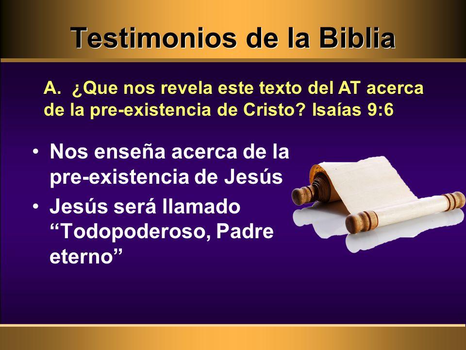 Testimonios de la Biblia