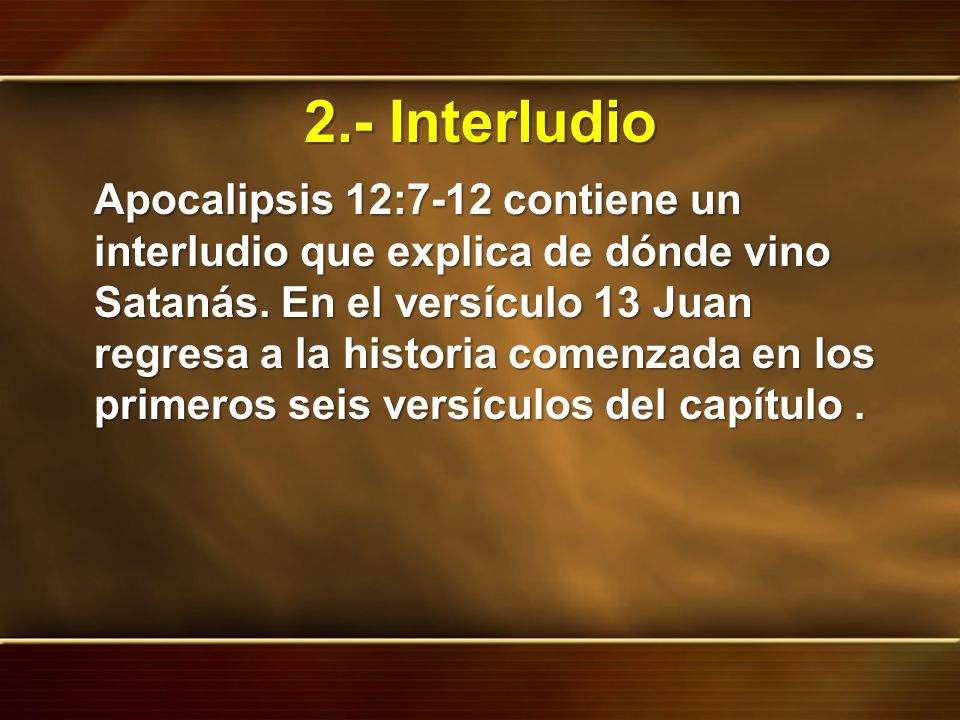 2.- Interludio